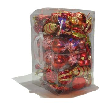 Assorted Christmas Balls Decoration 80Pcs in Box Price Philippines