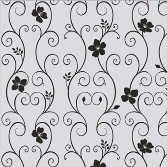 Aukey Frosted Privacy Cover Glass Window Black Floral Sticker