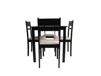AVINO(R) Landry 4-Seater Dining Set (Cappuccino) - 3