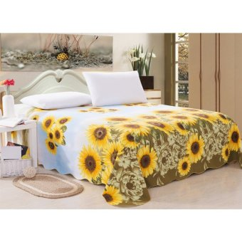 BAIJIAHAO Old Sunflower Coarse Bedsheets (Yellow) Price Philippines