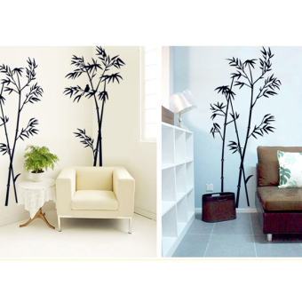 Bamboo Mural Removable Craft Art Black Wall Sticker Decal LivingRoom Decor
