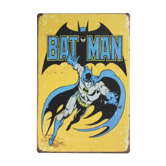 Bat Man Vintage Metal Tin Sign