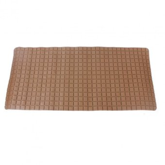 Bathlux Non Slip Suction Rubber Blocks Design Bath Mat Door Mat(Brown)