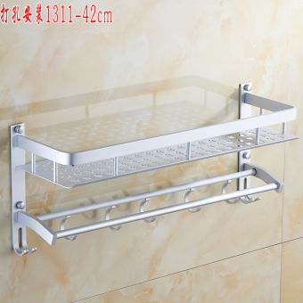 Bathroom space aluminum bathroom towel rack bathroom shelf