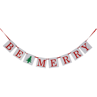 BE MERRY Banner Christmas Winter Bunting Photo Props