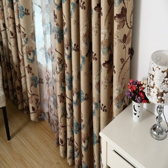 Beautiful Elegant Flowers Prints Blackout GYC2022-1 Curtain Blue - 3