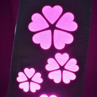 Beautiful Hollow Pattern Flower Shape Night Light Lamp (Pink) - 2