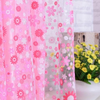 Beautiful Print Floral Door Sheer Window Curtains Room Curtain Divider 2m x 1m - intl - 3