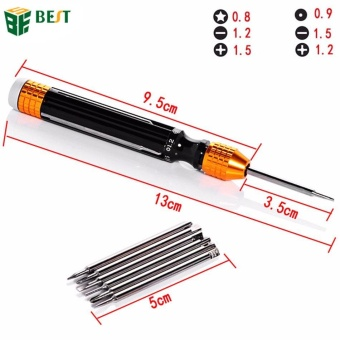 BEST 6 in 1 Multi-Function Magnetic Precision Screwdriver Set for Mobile Phone Electronics Repair Opening Tools - intl