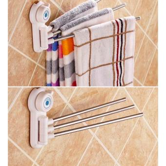 Best Quality Creative Magic sucker 3 Pole towel rack Price Philippines