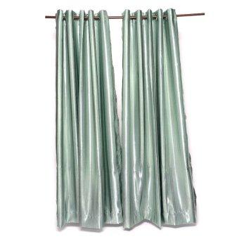 Blockout Stripe Curtain Set of 2 (Celadon)