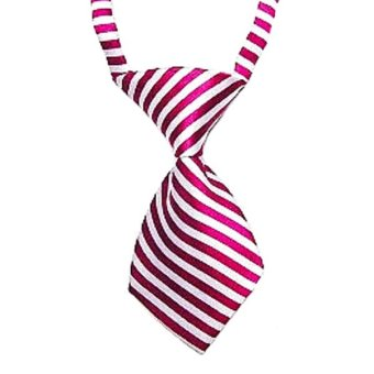 Blue lans Adjustable Dog Pet Stripe Grooming Necktie (Red) - picture 2