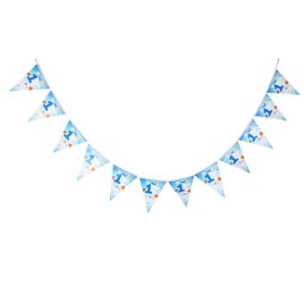 BolehDeals 1st Birthday Bunting Banner for Baby Shower Blue