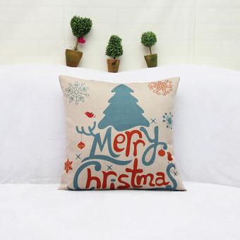BolehDeals Merry Christmas Tree Cotton Linen Throw Pillow Case Cushion Cover Home Decor - 2