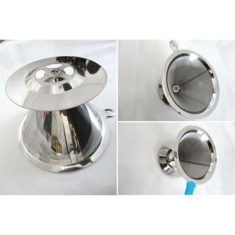 BolehDeals Stainless Pour Over Drip Mesh Coffee Tea Cone Filter Holder Maker #2 90mm - intl - 3