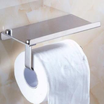 BolehDeals Stainless Steel Bathroom Towel Toilet Paper HolderStorage Tissue Hanger - intl