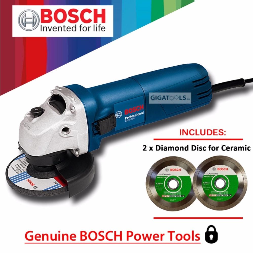 Bosch gws 060 angle grinder 4 670w with 2pcs diamond disc for bosch gws 060 angle grinder 4 670w with 2pcs diamond disc for ceramic tiles lazada ph doublecrazyfo Gallery