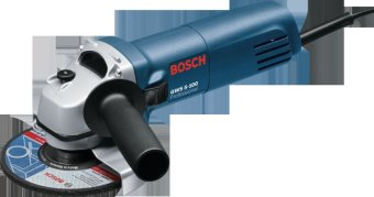 Bosch GWS 5-100 Professional Angle Grinder with FREE Grinding Disc (Grey) - picture 2