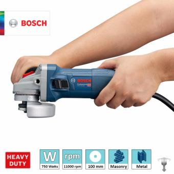 Bosch GWS 750-100 Professional Angle Grinder with Bonded Abrasive & Carbon Brush Set Power Tool - 3