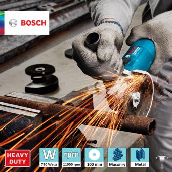 Bosch GWS 750-100 Professional Angle Grinder with Bonded Abrasive & Carbon Brush Set Power Tool - 4