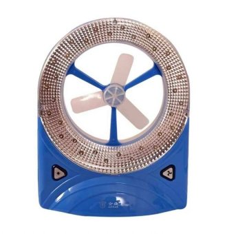BP-5560 Rechargeable LED Light with Fan (Blue)