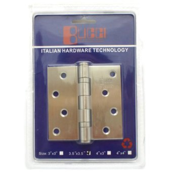 Bucci 3.5 x 3.5 Inches Ball Bearing Hinges (Silver)