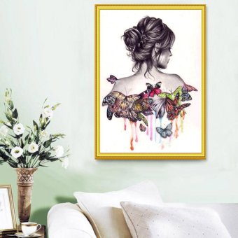 Butterfly Beauty Girl 5D Diamond DIY Painting Craft Kit Home Decor- intl - 3