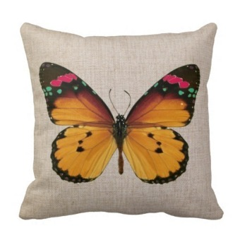 Butterfly Double-Side Printing Pillow Case Cover(Multicolor)