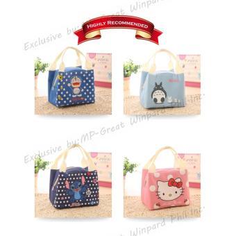 Buy 1 FREE 1 Korean Home Style LB-002 Portable Lunch Bags AnimalCartoon Printed Ice Bag Hand Carry Bag - 4