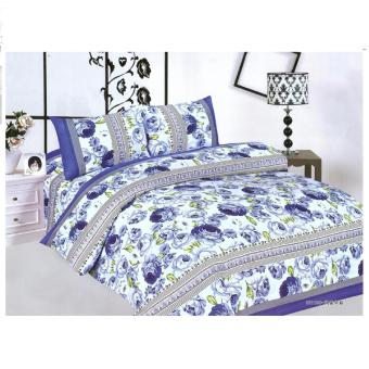 BUY 1 TAKE 1 3-Piece Queen Size Bedding with Luxury Cotton Feel-Balinese Serenity and Blue Floral Series by Manhattan Homemaker - 2