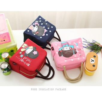 Buy1 Get 1 FREE Japan Home Style LB-005 Kid's School Portable LunchBags Sweet Girl Printed Ice Bag Hand Carry Bag - 2