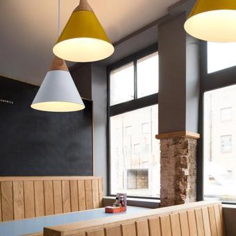 BUYINCOINS E27 Simple Wood Pendant Ceiling Hanging Lamp ChandelierKitchen Light Fixture L Black - intl - 5