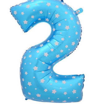 Buytra Large Foil Balloon Number 0 To 9 blue-2