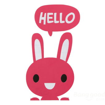 Buytra Switch Sticker Removable Hello Small Rabbit Vinyl ZH1421