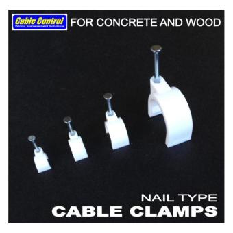 Cable Control NAIL TYPE CABLE CLIPS Pack of 400 pcs - 3