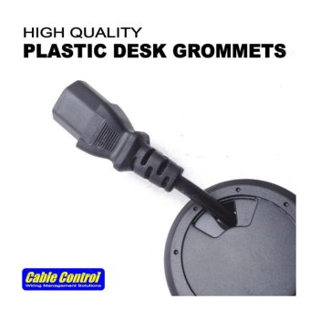 Cable Control Plastic Desk Grommets 60mm, set of 16, Office Deskgrommet, Computer Table Grommet