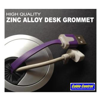 Cable Control Zinc Alloy Desk Grommets 50mm, set of 4, Office Deskgrommet, Computer Table Grommet