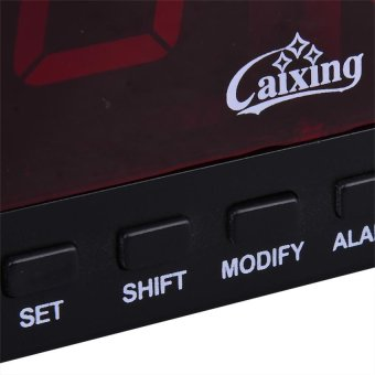 Caixing CX-2158 Digital LED Alarm Clock (Black) - 2