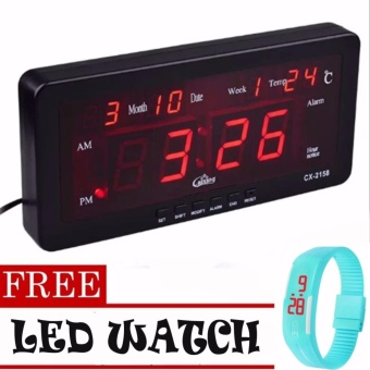 Caixing LED Clock 2158 with LED Watch (color may vary)