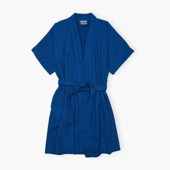 Canadian Waffle Terry Bathrobe (Blue)