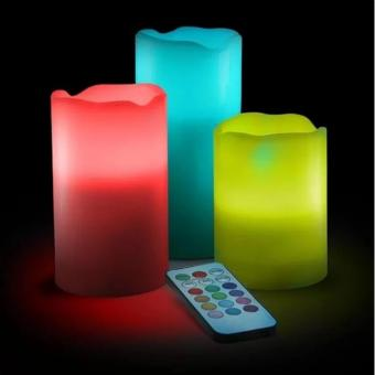 Candles Flameless Changing LED Light with Remote Control Timer - 2