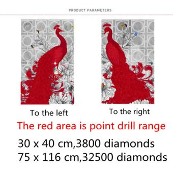 Candy Online 2 IN 1 Peacock DIY 5D Diamond Painting Cross StitchFull Drill Rhinestone Painting Decor (8002+8001) - 4