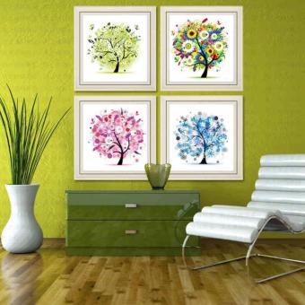 Candy Online 4 In 1 Four Seasons Fortune Tree DIY 5D DiamondPainting Cross Stitch Full Drill Rhinestone Painting Decor(8748+8749+8750+8751) Price Philippines
