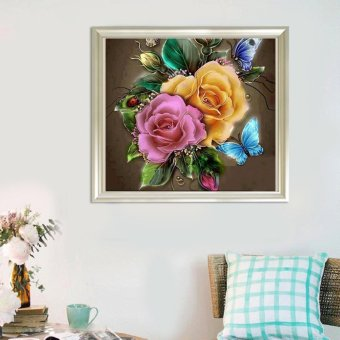 Candy Online Butterfly And Flower DIY 5D Diamond Painting CrossStitch Full Drill Rhinestone Painting Decor #9611 - 4