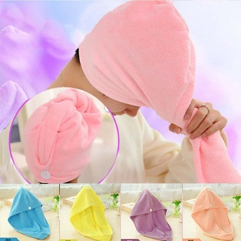 Cap Head Wrap Shower Bath Caps Bath Towels for Adults Hair QuickDrying Bath Towel - intl