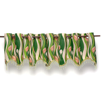Carns Valance Curtain Set of 2 (Green)