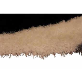 Carpetier Concepts - 3D Vortex Design. Black White Grey. Shaggybedroom table carpet home decor rug - 4
