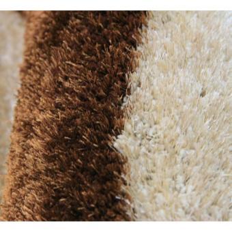 Carpetier Concepts - 3D Waves design. Black, Brown, Beige. Shaggybedroom table carpet home decor rug - 3