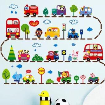 Cartoon children's room boy's Decorative Sticker adhesive paper