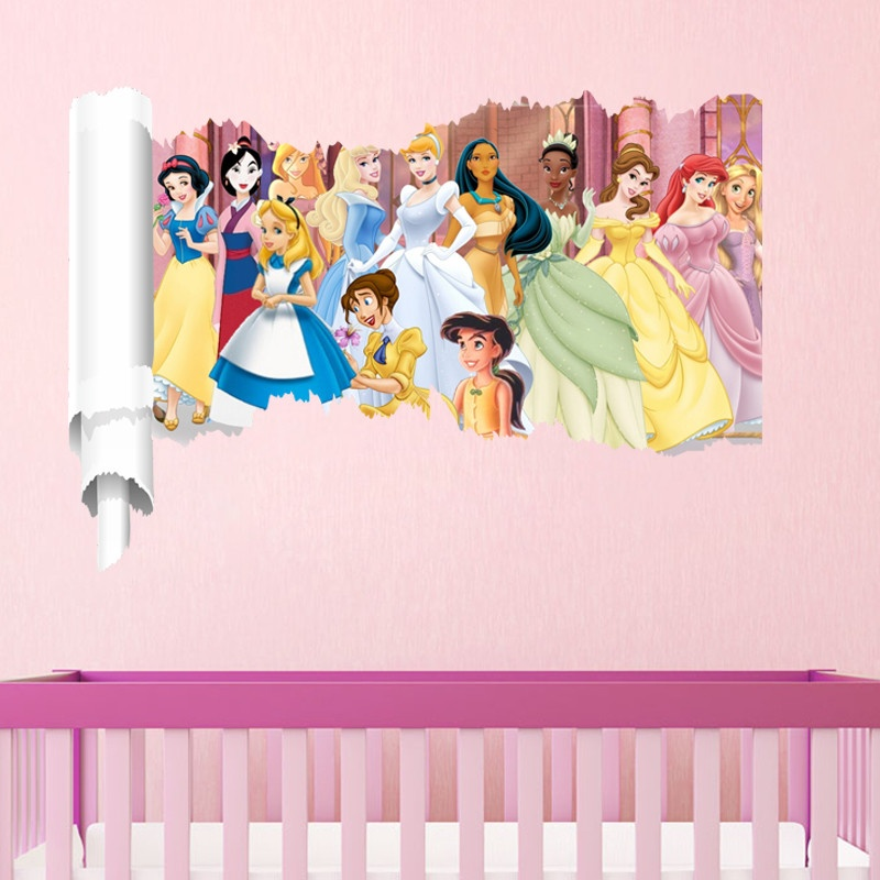 Philippines Cartoon Snow Girl Princess Wall Stickers For Girls